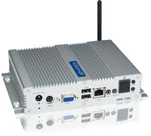 This fanless embedded computer series is designed to simplify project deployment by offering fully enclosed, compact computer designs with wide variety of processor, chipset, memory, and COM port selections.